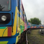 Entire train painted by Kenor – Kiev 2016