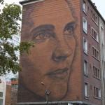 "By Jorge Rodriguez-Gerada. Mural ""Ana, my Muse"", ""Ana, mi Musa"" – Rue National 63, Paris"