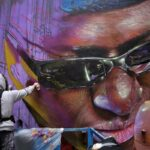 New mural by Conse in Raval – Homage to Makha Diop