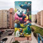 """""""String Quintet"""" – Massive mural by Juanjo Surace in Lisboa for MuroLX2021"""